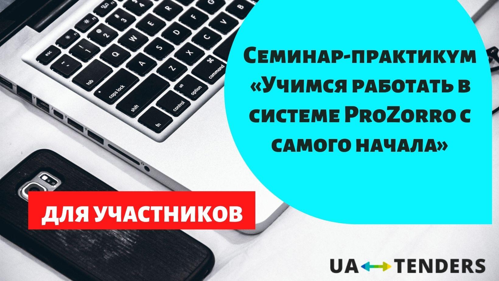 Семинар-практикум «Учимся работать в системе ProZorro с самого начала»